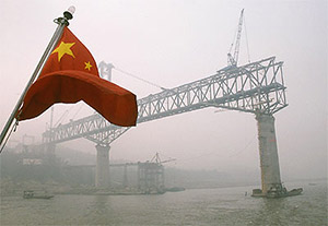Construction on the Yangtze River