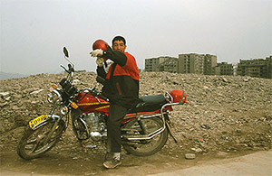 Motorcyclist in Fengdu