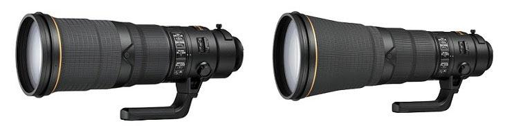 Nikkor 500mm and 600mm lenses