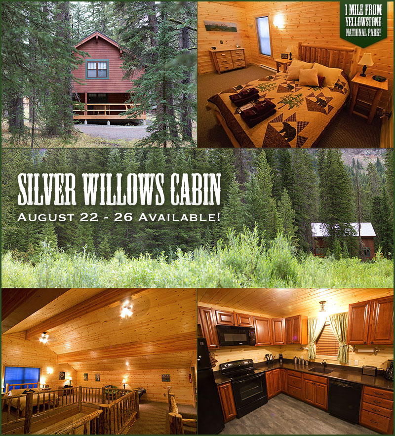 Silver Willows Cabin available Aug. 22 - 26