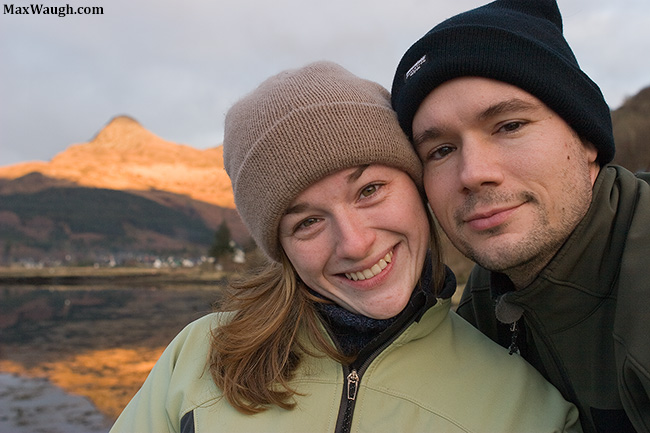 Max and Jenn in Scotland