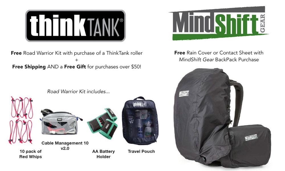 ThinkTank and MindShift Gear deals