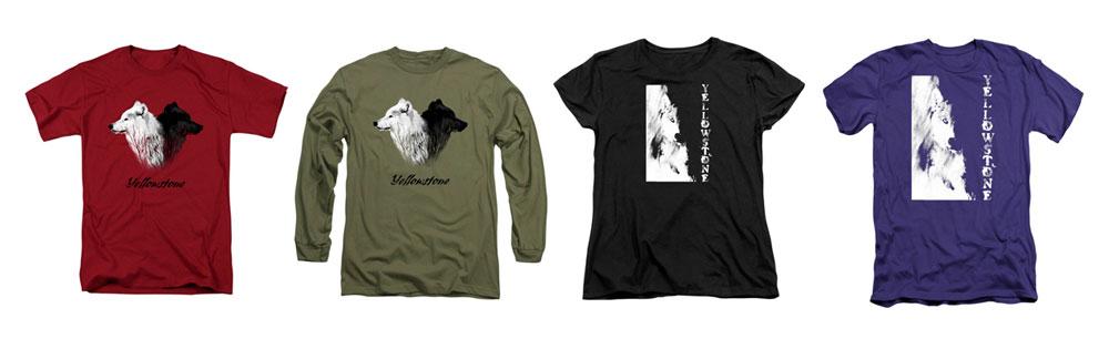 Yellowstone wolf shirts