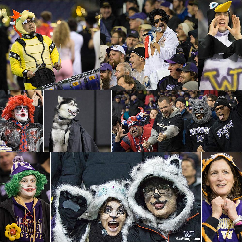 Husky Fans dress up for Halloween