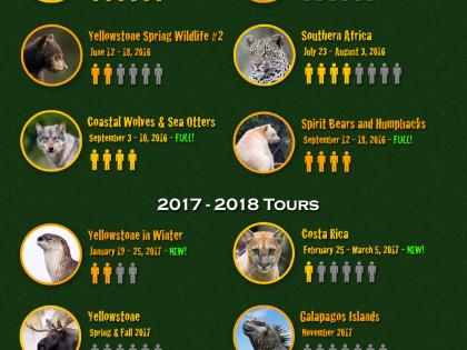 2016 – 2018 Photo Tour Update