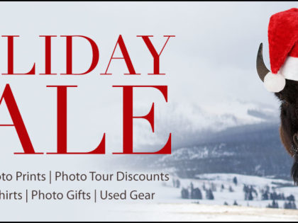 2016 Holiday Sale: Discounted Prints & Tours, Calendars, Gift Items, Used Gear