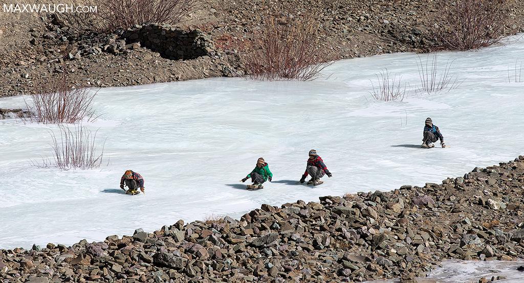 Children sledding