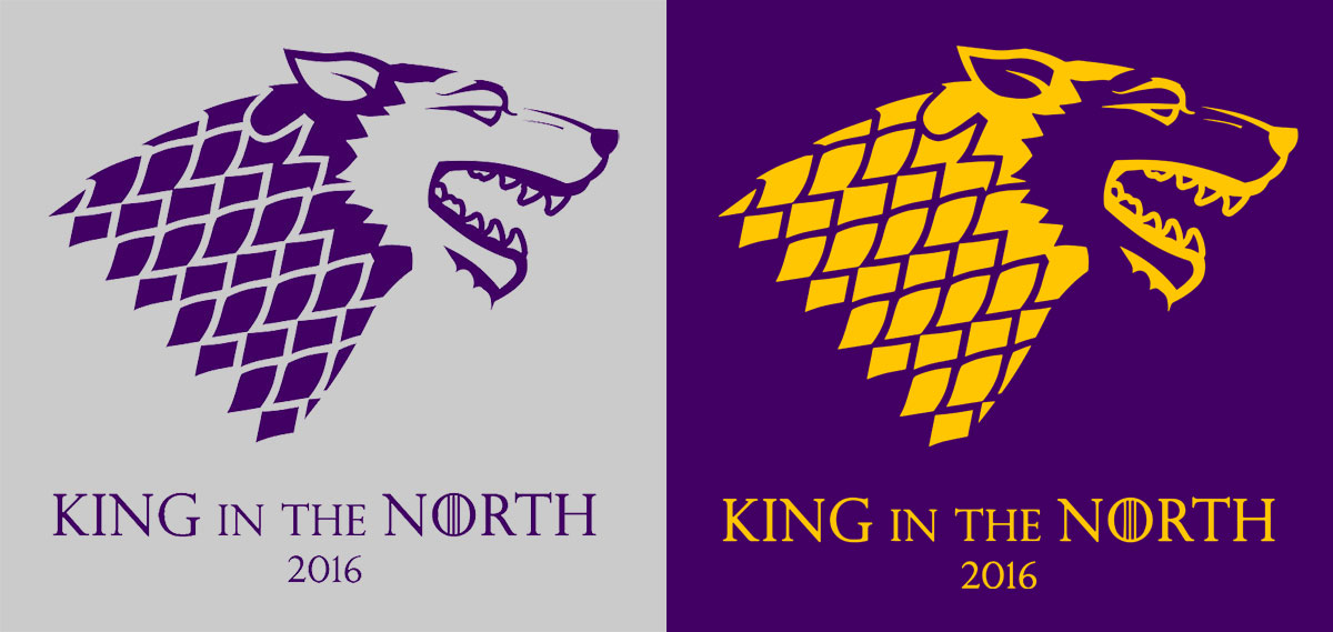 King in the North UW shirt designs