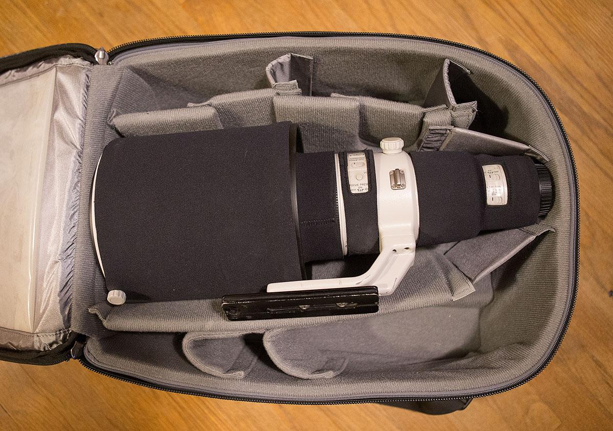 Canon 600mm lens hood in bag