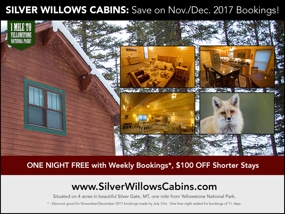 Silver Willows Cabins: Save on November/December Stays