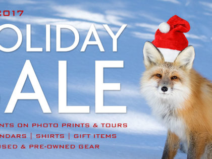 2017 Holiday Sale: Discounts Photo Prints & Tours, Calendars, Gifts, Used Gear
