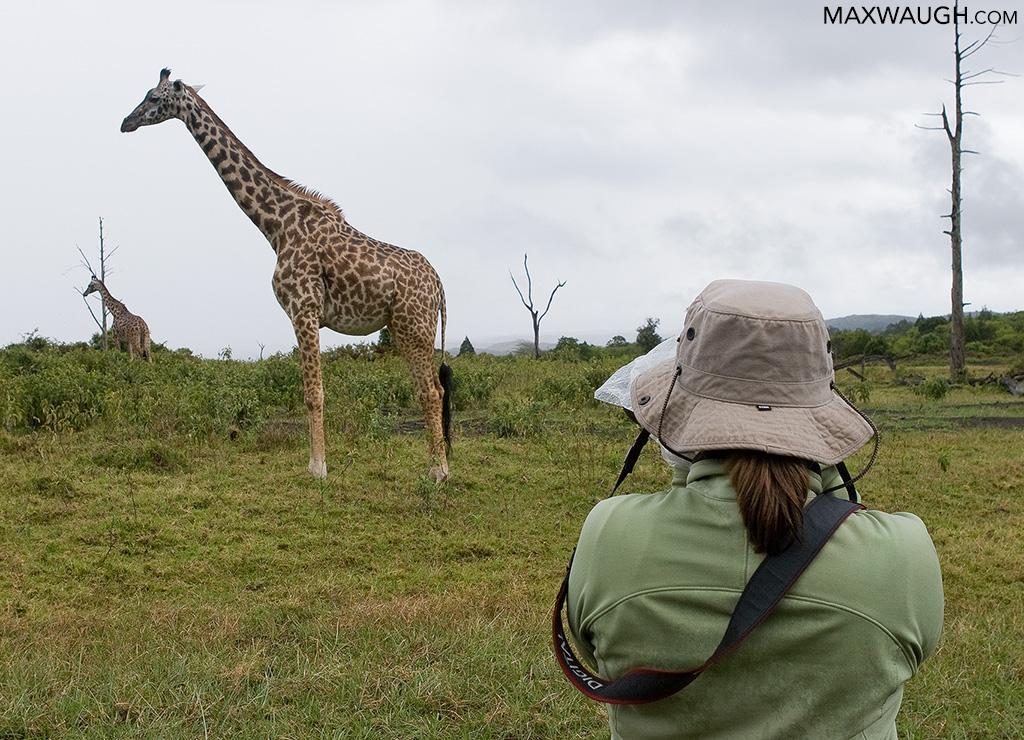 Walking safari in Arusha National Park