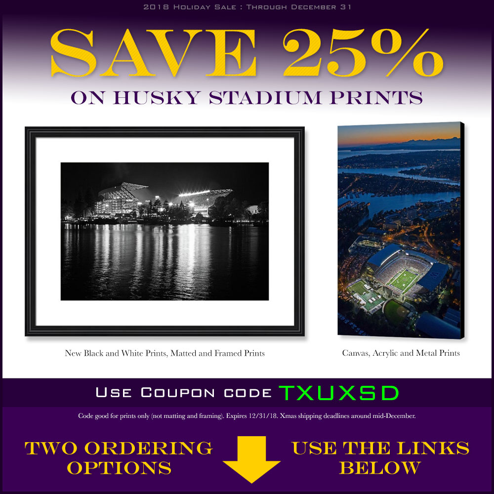 Save 25% on Husky Stadium prints