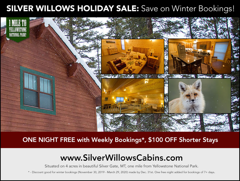 Save on winter stays at Silver Willows Cabins