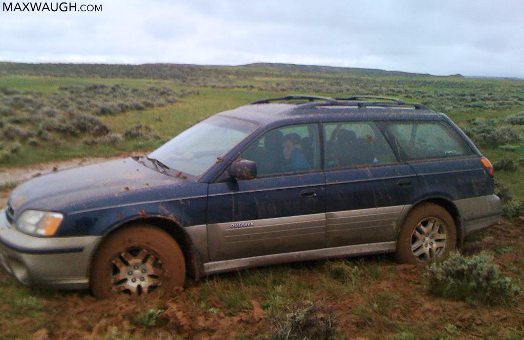 Subaru stuck in the mud