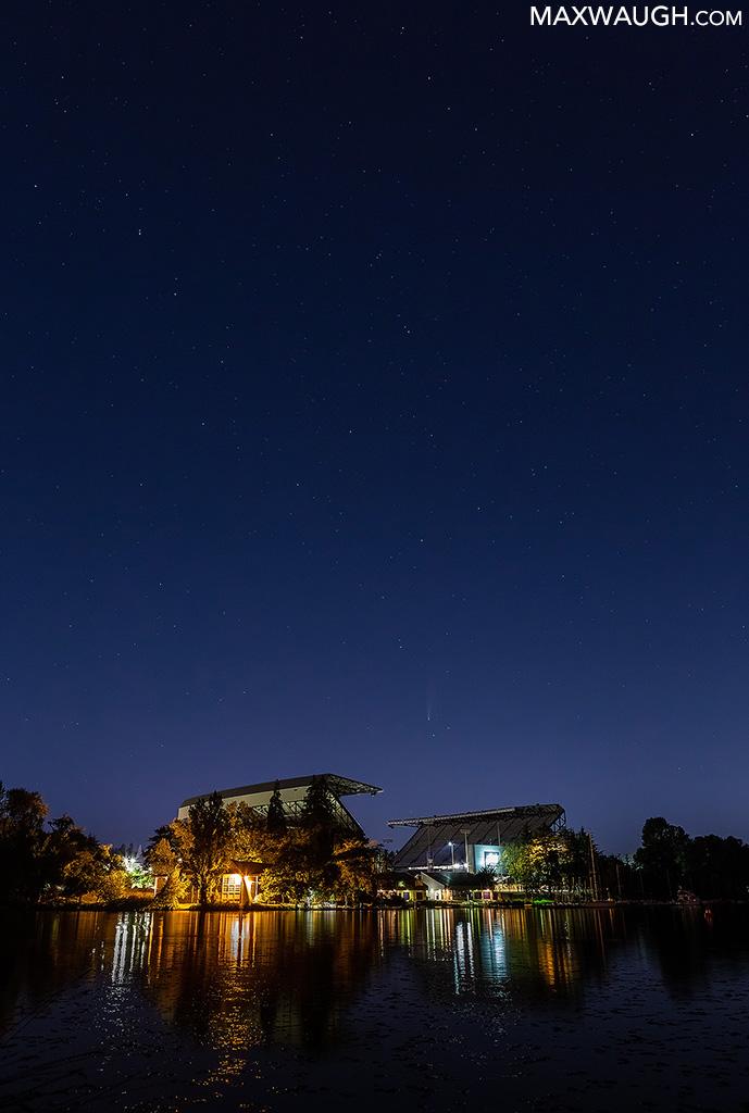 Comet NEOWISE and Husky Stadium