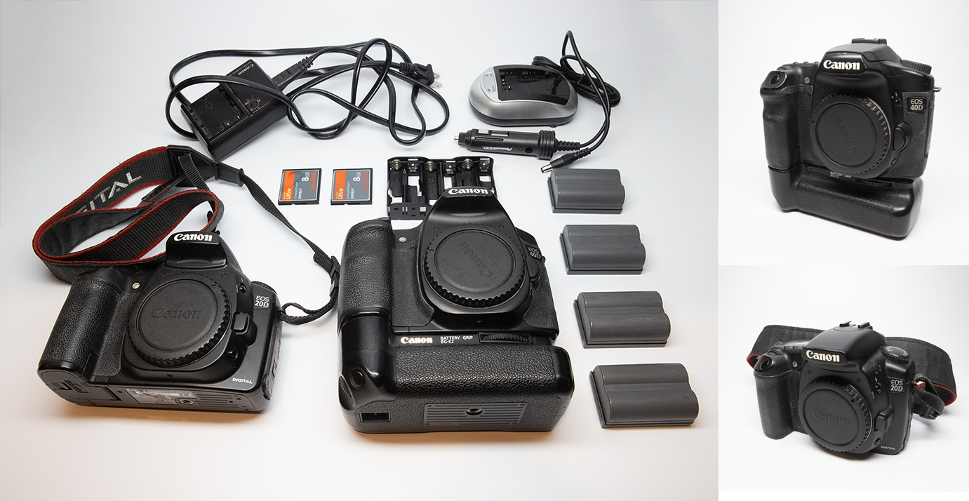 Canon 40D and 20D for sale