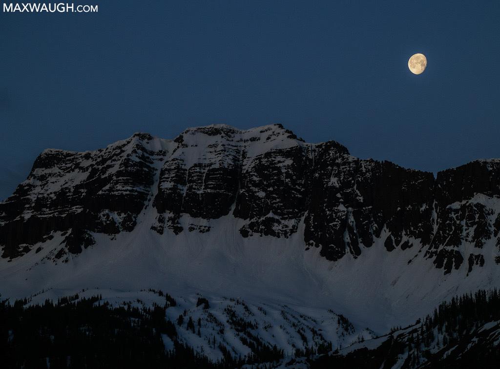 Moon over Amphitheater Peak