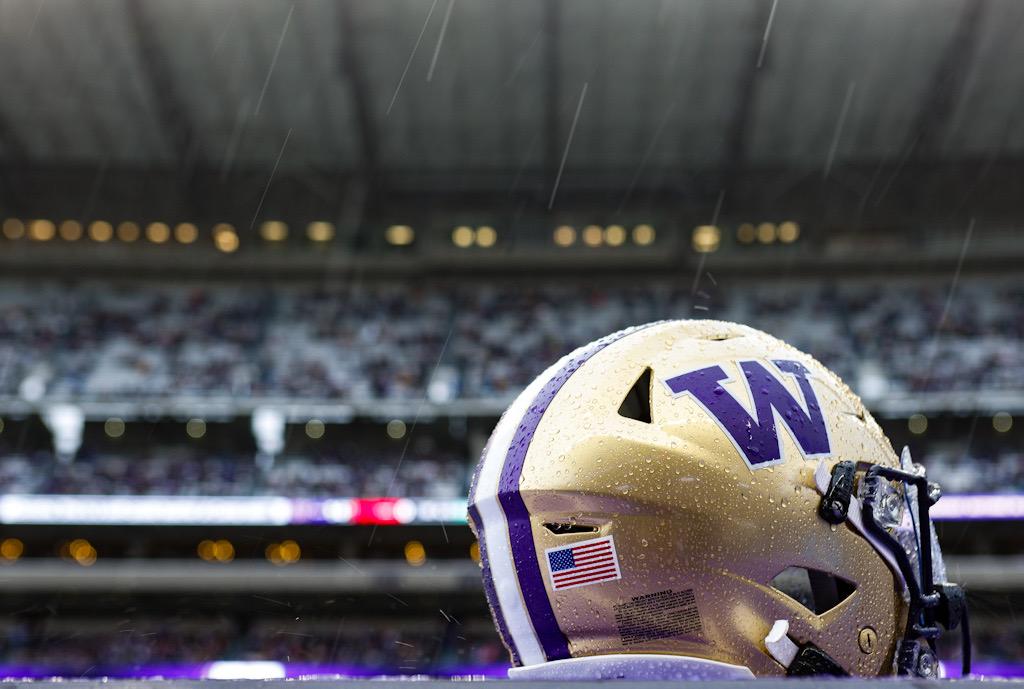 Helmet in the rain