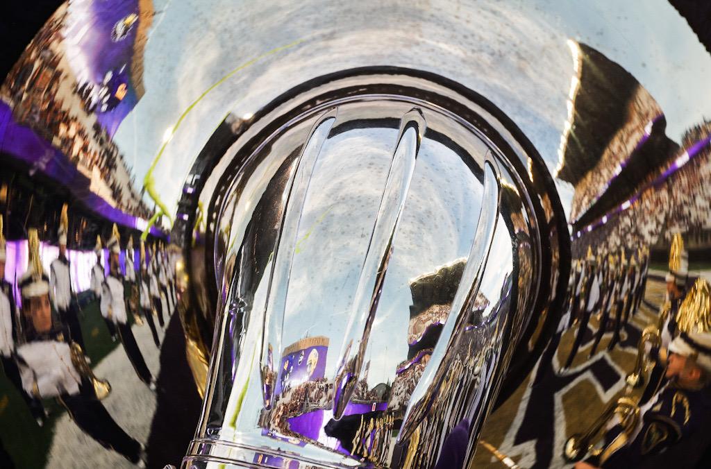 Husky Stadium tuba reflection